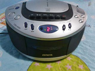 AIWA COMPACT DISC ESTÉREO RADIO CASETE GRABADOR- C