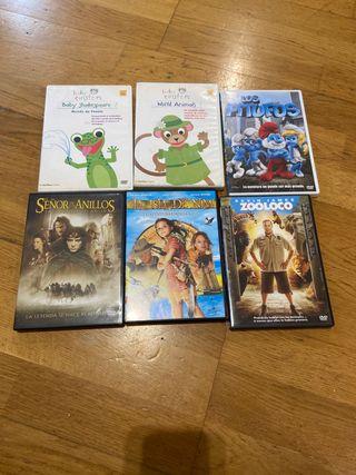 Películas DVD variadas a 1€ cada una