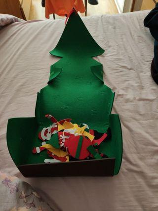 árbol navidad de fieltro
