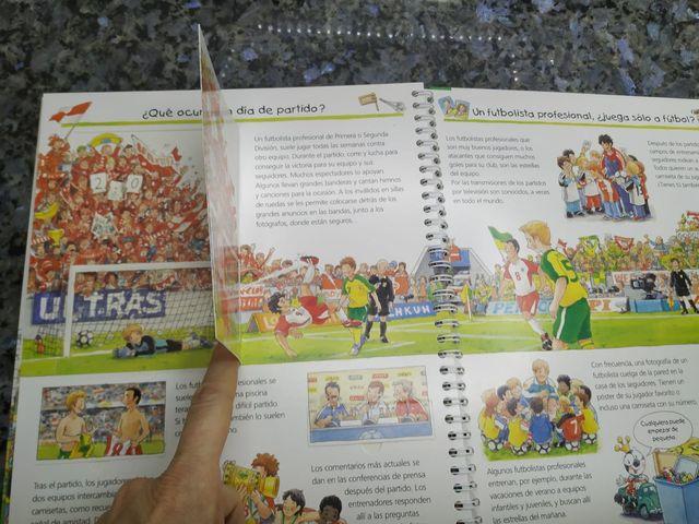 Libro de pestañas todo sobre el fútbol