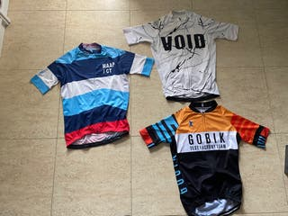 Lote de 7 maillots de ciclismo