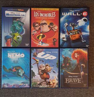 Pack 6 películas Disney pixar