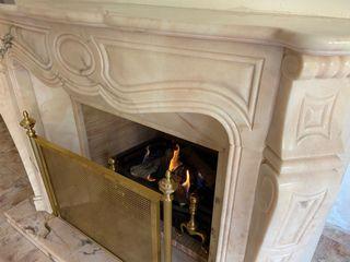 Embellecedor chimenea marmol