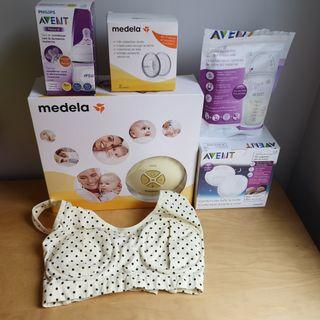 Pack lactancia:sacaleches,copas,discos,bolsas...