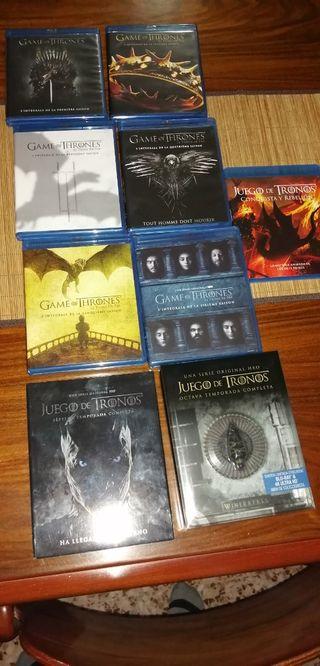 Juego de tronos serie completa bluray y 4k
