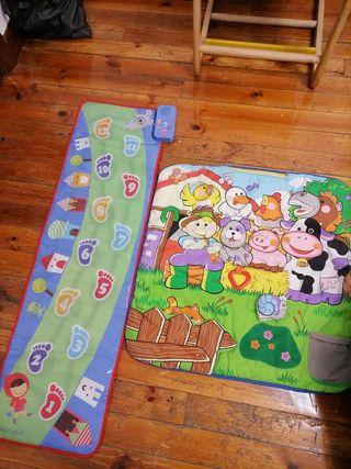 pack juguetes bebe para jugar manta+sendero.