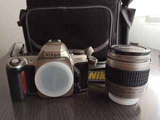 Cámara Nikon F-65 + AF Nikkor 28-80mm + bolsa