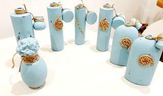 LOTE jarrones botellas