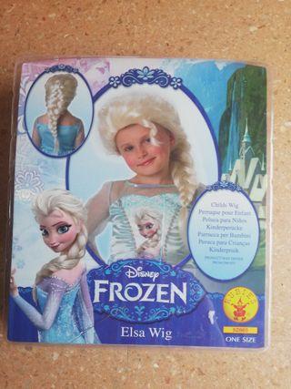Peluca trenza Elsa Frozen