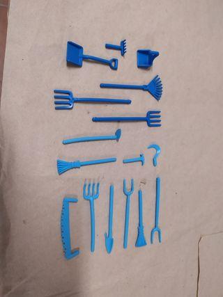 lote de herramientas de playmobil