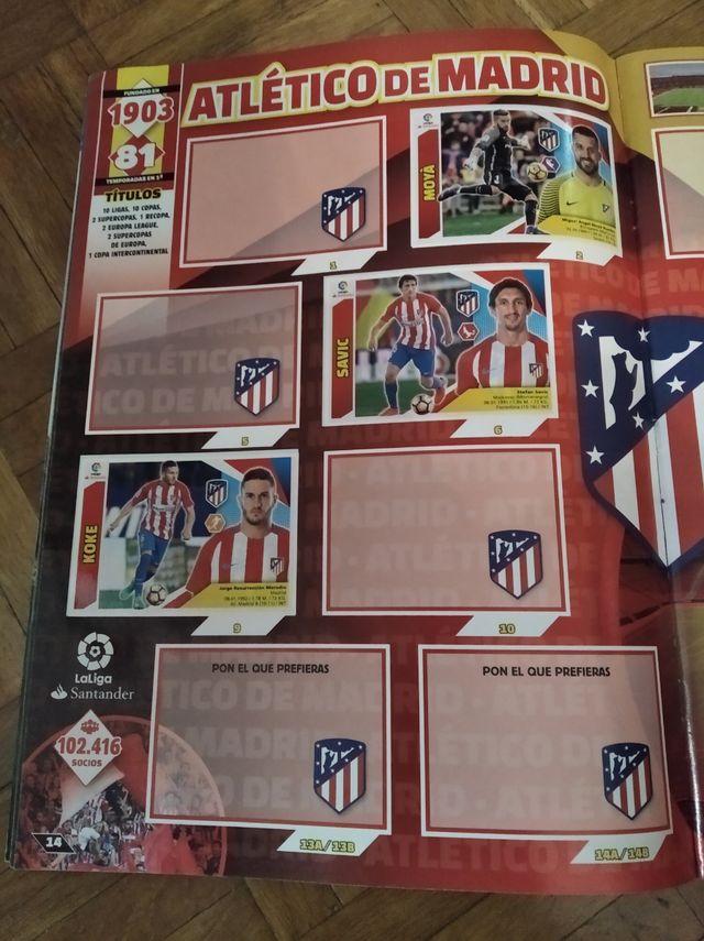 álbum de cromos futbol temporada 2017- 2018