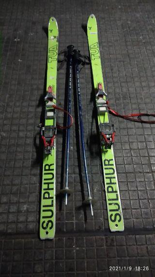 esquís de travesía,equipo completo