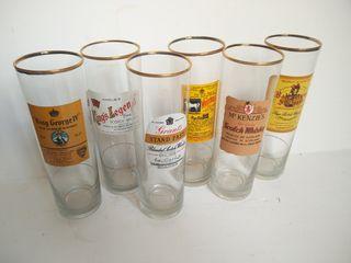 juego de 6 vasos tubo Vintage