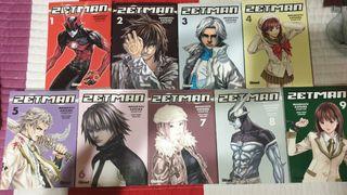 Còmics del 1 al 9 de la serie Zetman.