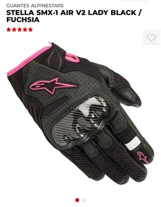 Guantes moto mujer alpinestars stella rosa