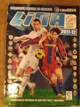 álbum de cromos futbol temporada 2011- 2012
