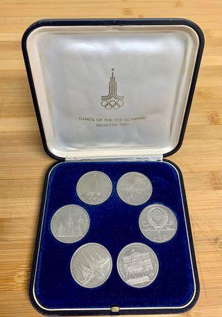 Monedas olimpiadas MOSCOW 80