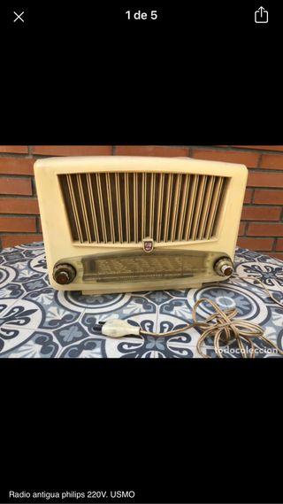 Radio antigua philips 220v no probada