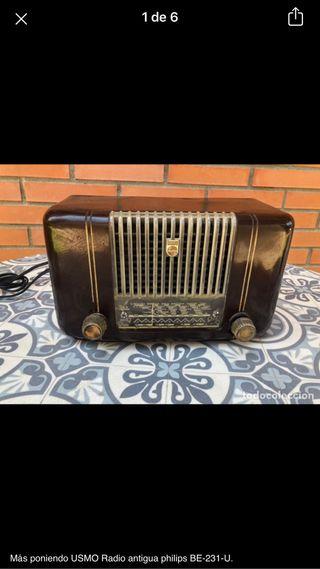 Radio antigua philips BE-231-U no probada