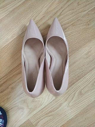 zapatos nude talla 40