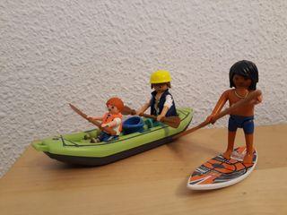 Playmobil Desportes Acuaticos Surf y Canoa
