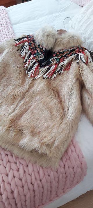chaqueta pelo zara