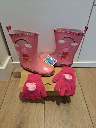 Botas+guantes Peppa
