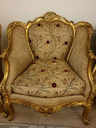 Baroque French Vintage Three Seater Sofa + 4 armch