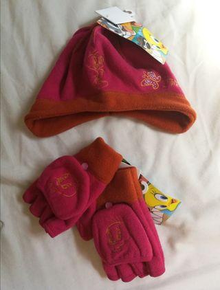 guantes y gorro Piolín ESTRENAR invierno niña