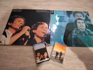 lote 1 vinilo y 2 cassettes SIMÓN & GARFUNKEL