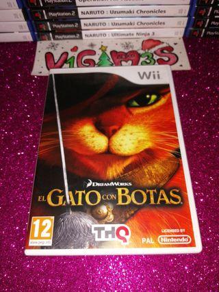 El gato con botas Nintendo wii