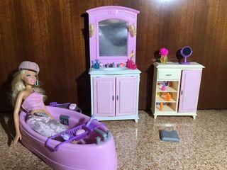 Baño de la Barbie