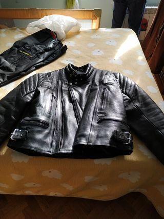Cazadora moto masculina