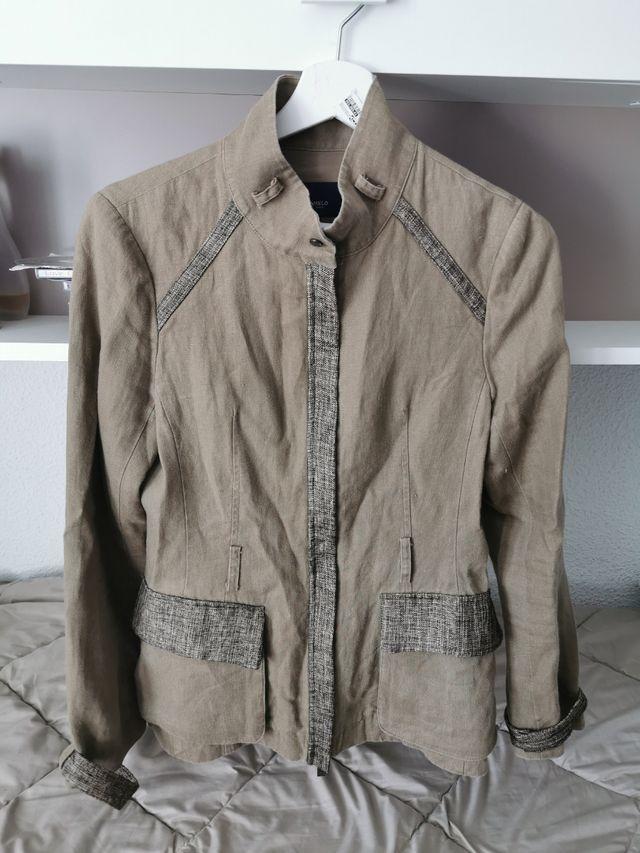chaqueta lino Caramelo talla 38