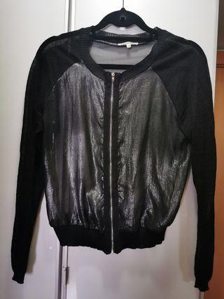 chaqueta negra y plata Lucy París M/L