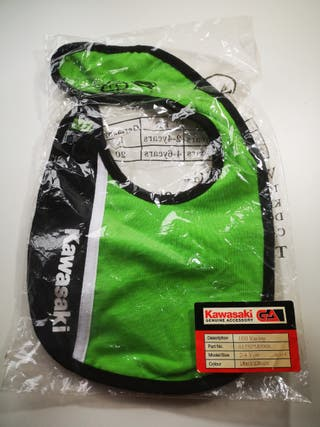 Babero 100%algodón Kawasaki original talla 2-4