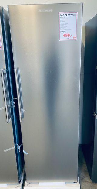Frigorífico vertical 1 puerta 186x60 cm A++ Inox