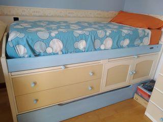 Mueble compacto dos camas y sinfonier