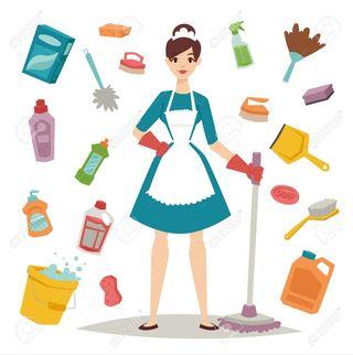 se ofrece chica para limpieza