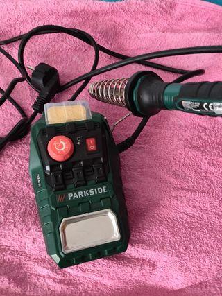 soldador con regulador de temperatura