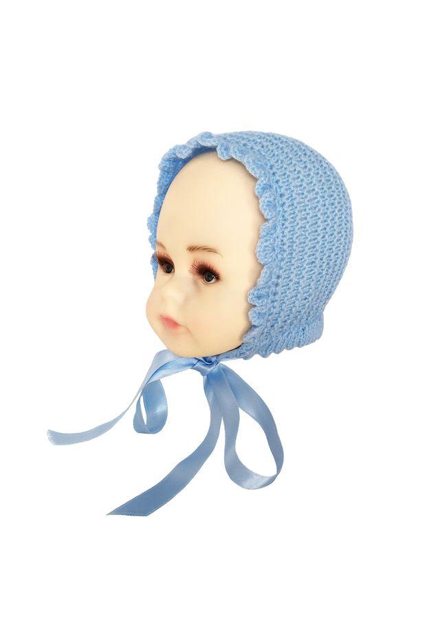 Capota de lana azul bebé lana 3-6 meses