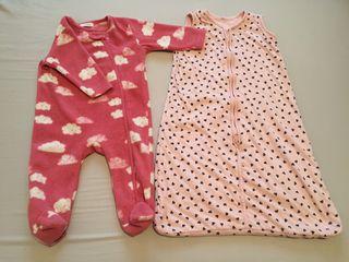Saco de Dormir y Pijama Mono Polar Bebé invierno