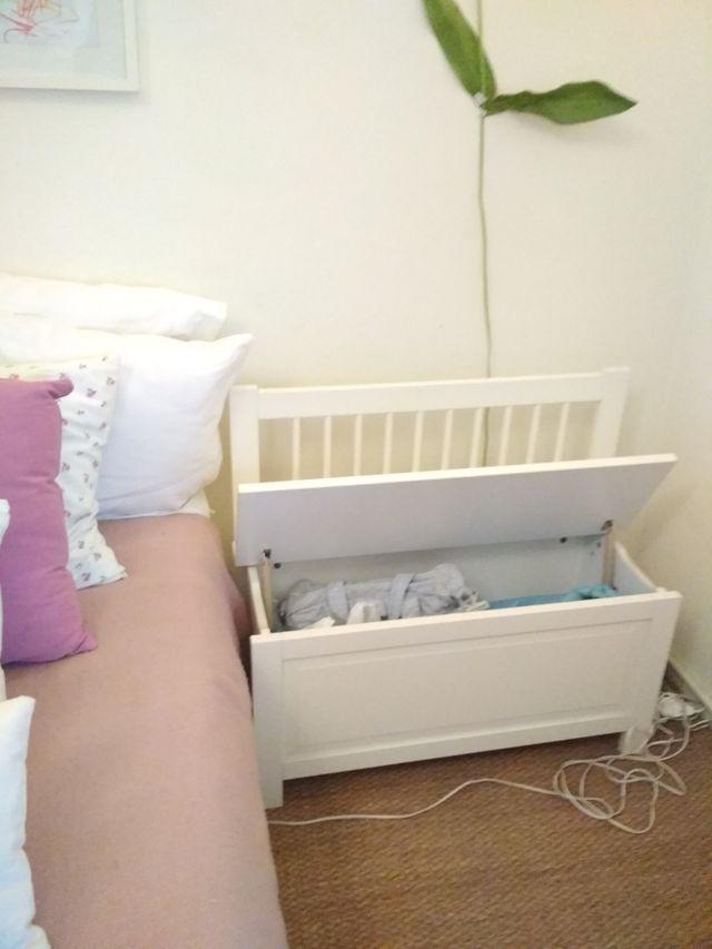 Banco baúl blanco IKEA