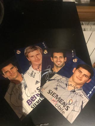 Postales originales Real Madrid firmadas