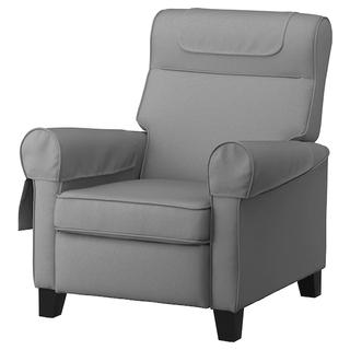 MUREN Sillón relax reclinable, gris claro