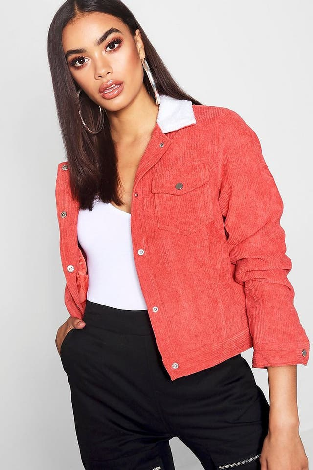Red cord jacket size 10