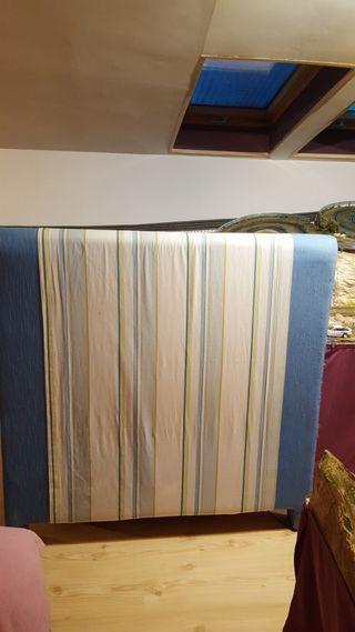 2 cabeceros tapizados, cubresomier, funda cojines