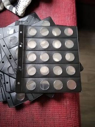 10 hojas Pardo monedas dos euros
