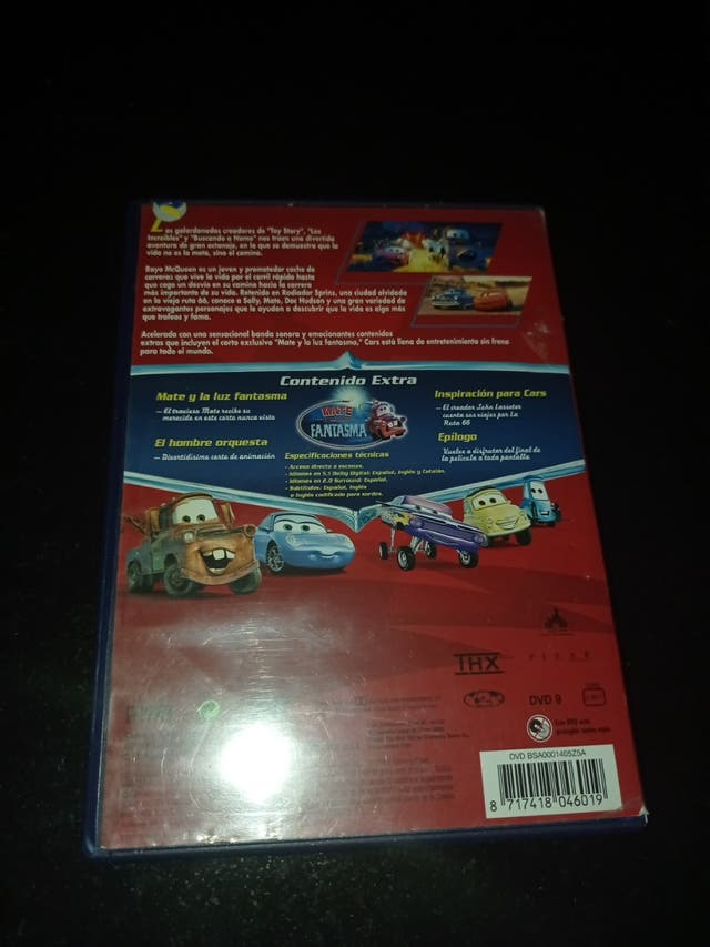 PELICULA DVD CARS