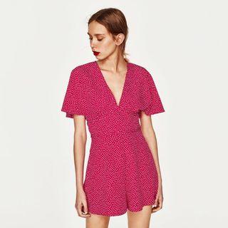 Mono Zara de polka dots rosa